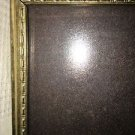 "Vintage gold metal embossed photo picture frame 8x10"" easel wall shabby decor"