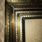 5 small embossed vintage bright gold metal frame photo picture 2.5x3.5 to 3.5x5""