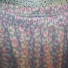 Pink gray fleece sleep lounge pj pajama bottom pants woman plus 1X elastic waist