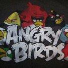 Size (M) medium ANGRY BIRDS video game t-shirt soft spun pre shrunk brown GUC