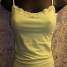 AEROPOSTALE lace trimmed built in shelf bra women's S bright yellow green USED