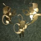 Vintage 3D brass CHRISTmas tree ornaments musical cherub angels embossed etched