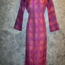OOAK kurti kutra formal long dress shiny pink purple irridescent sheer organza