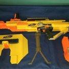 Nerf N-Strike Stampede ECS foam bullet toy gun complete clip bi-pod stand shield