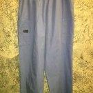 Ceil blue scrubs cargo pants nurse dental medical vet M Cherokee 4200 elastic