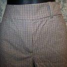 Plaid checked women's size 0 lightweight bermuda shorts TYLER BOE golf dress GUC