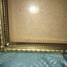 Vintage gold brass metal embossed photo picture frame 8x10 velvet back scrolled