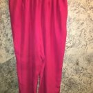 Hot pink silky lightweight elastic back high waist tapered leg dress pants L