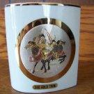 CHOKIN artist 24K carat gold Japan Samurai Warriors small vase signed GUC vntg ?