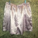 Pink small floral silky sleep lounge pajama pjs bottoms short high waist plus 1X