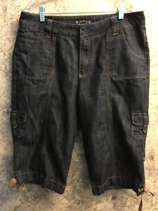 RIDERS Copper capri peddle pusher pants junior 11/12 mid rise straight leg ties