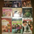 Lot 9 VHS VCR family children's kids movies video G PG Disney Warner Bros Barbie