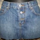 QUICKSILVER ROXY denim jean mini skirt frayed hem women's junior sz 3 button fly
