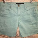 CALVIN KLEIN JEANS turquoise shorts modest length casual 5 pocket stretch 10 GC