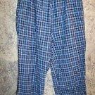 Blue plaid flannel boxer pajama bottoms pjs BOBBIE BROOKS woman plus 20W short