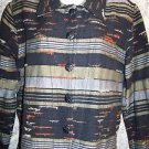 Artsy RESORT WEAR North shirt jacket woman M all cotton India varigated colors