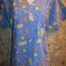 It's A Baby boy girl balloons v-neck pullover scrubs top dental medical nurse M