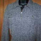 COLDWATER CREEK jacket blazer women PS petite small zip front decorative trim EC