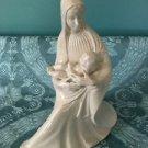 "Elegant opalesque ceramic figurine CHRISTmas Mary baby Jesus 9"" Holland Mold vtg"