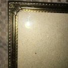 Antique gold brass metal embossed photo picture frame 5x7 sculpted scroll corner