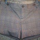 Plaid stretch cuffed low rise short shorts RAMPAGE women 6 brown summer dressy