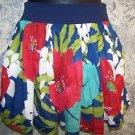 HOLLISTER tropical flower island beach elastic waist lined mini skirt women's M
