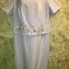 JESSICA HOWARD Petite 20W lavender modest layered shift dress embroidered lined