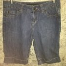 CALVIN KLEIN JEANS blue denim shorts modest length casual 10 lightweight cuffed