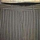 Gray white stripe stretch capri peddle pusher pants 6 low rise straight career