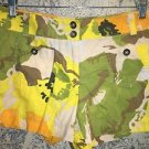 NEW YORK & CO low rise short shorts 8 bright bold tropical flower print cotton