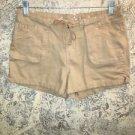 ARIZONA JEAN low rise short shorts tie waist belt 5 pocket back flaps junior 3