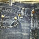 LEVIS 29X29 569 denim blue jeans straight leg loose fit red tab whiskered wash
