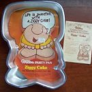 Retired Wilton ZIGGY 1978 cake pan mold retired EUC metal HTF collectable dish