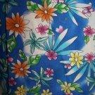 Bright Hawiian cheery floral v-neck scrub uniform top dental medical nurse vet M