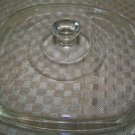 """8"""" square glass casserole dish ovenware bakeware lid clear unbranded replacement"""