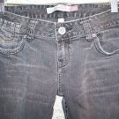 AEROPOSTALE AERO Bayla black denim skinny leg jeans low rise  women junior 3/4