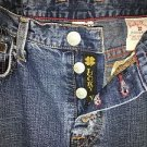 LUCKY BRAND Glamrock fringed frayed button fly low/mid rise flared jeans 8/29 US