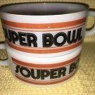 """Vintage GLASBAKE white milk glass soup chili bowls handles mugs """"souper bowl"""" GC"""