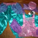 CHILDREN'S PLACE girl's small 5/6 genie costume HALLOWEEN pink purple teal NWT