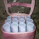 CONAIR Instant Heat travel set hair hot rollers curlers tight pageant curls pink