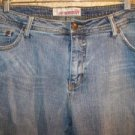 Boot cut 18 petite mid rise denim blue jeans stretch 5 pocket FADED GLORY guc