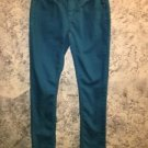 SO teal blue denim skinny stretch jeans pants 0 low rise casual career school