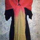 """36x86"""" Indian dupatta scarf shawl wrap sheer silk? chiffon fabric two tone dyed"""