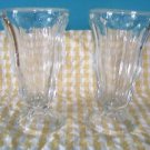 2 ice cream parlor soda fountain sundae cups float malt shake glasses heavy 7""