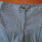 Womens 6 capris cropped EUC peddle pushers pants blue check plaid LIZ CLAIBORNE