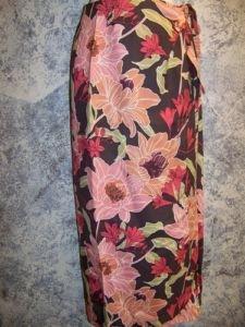 Womens size XS extra small 2 TOMMY BAHAMA silk tropical wrap sarong skirt EUC