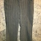 Gray pin stripe WORTHINGTON pants mid rise 6 wide leg dress career professional