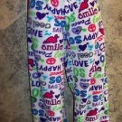 Plush multi-color sleep lounge pajama pj women's XL love peace low rise boxer