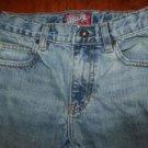 OLD NAVY boy's 12 Slim straight jeans skinny light wash adjustable elastic waist