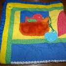 Vintage PLAYSKOOL Fold n Go baby activity blanket mat quilt developmental skills